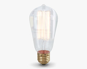 3D model Edison Bulb tesla