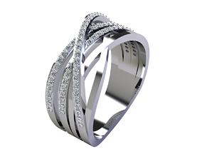 3D print model Fancy Woman Diamond Ring diamond-ring