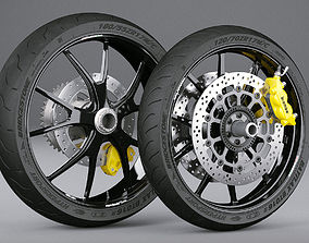 Motorcycle Wheels motorcycle 3D model