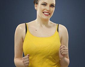 Dominica Attractive Sports Woman Running Jogging 3D asset