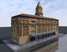 game-ready Auckland Ferry Terminal 3d low-poly model