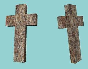 3D asset Stone cross