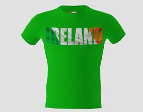 Low poly Ireland shirt green colour 3D model