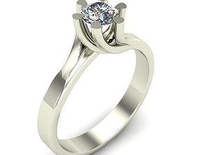 printable diamond ENGAGEMENT RING 3D printable model