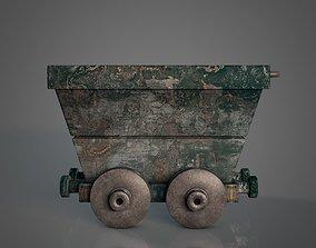 Mine Cart - Rusty Metal Texture 3D asset