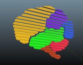 3D asset Low poly brain symbol 42