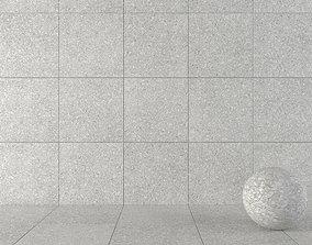 Stone Wall Tiles Terrazzo White 80x80 3D