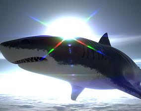 Shark with U5 Demo Scene and UE4 3D model 1
