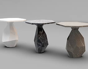 Ginger and Jagger Rock Side Table 3D asset VR / AR ready