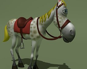 Cartoon Comic Horse 3D model