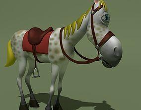 Cartoon Comic Horse 3D model