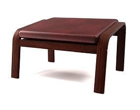 Poang footstool ikea model 3D asset