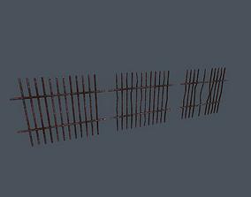 3D asset Rusty Bars