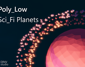Poly-Low - Sci - Fi - Planets 3D asset VR / AR ready