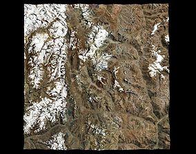 Aconcagua Andes Highest Mountain Peak 3D model
