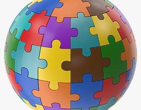 Sphere Puzzle 3D asset