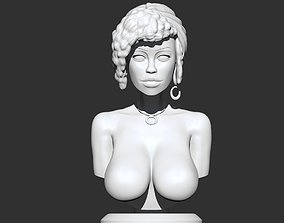 Stylized Female Bust 3D print model