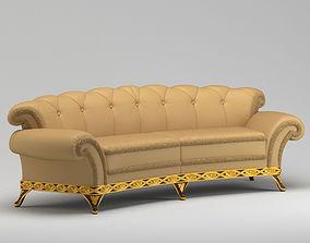3D Light Brown Luxurious Class Sofa