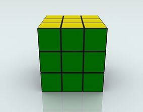 3D model board Rubiks Cube