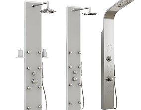 3D model Hydromassage shower panels Ravak set 03