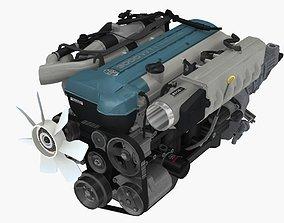3D model Toyota 2JZ GTE VVTi engine