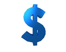 Dollar Symbol v1 008 3D model