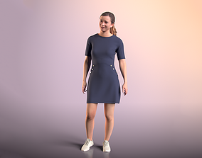 3D asset Nadin 20001-11 - Animated Talking Girl