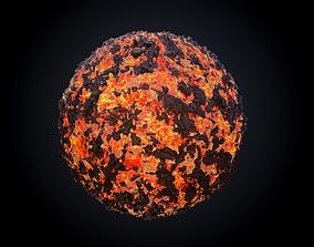 Lava Ground Seamless PBR Texture 03 3D model