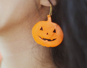 3D print model Pumpkin earrings