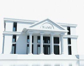 3D model Bank Building Symbol
