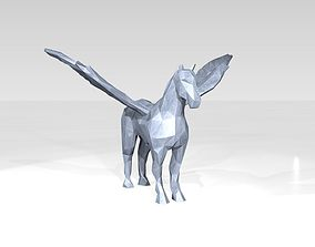 3D Pegasus Low Poligonal