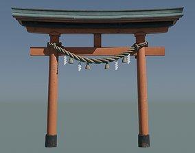 Japanese Red Torii Gate 3D model