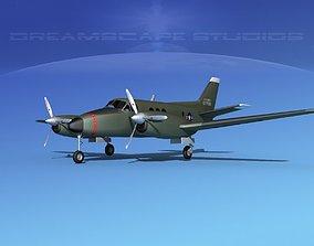 Beechcraft C-6 Transport V06 US Army 3D