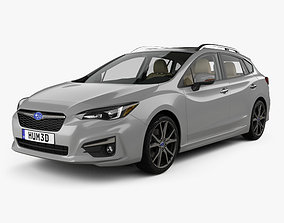 Subaru Impreza 5-door hatchback with HQ interior 3D model