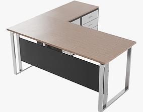 Desk lowpoly 3D asset
