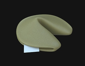 Fortune Cookie food 3D model