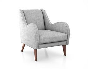 3D model Sebastian Chair by West Elm