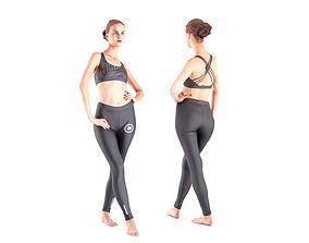 Female dancer 17 3D model