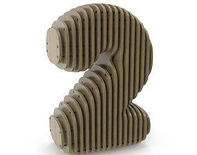 3D model Wood symbol 2