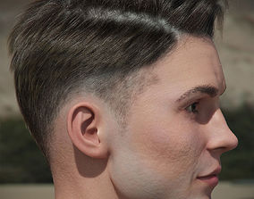 Man hairstyle 1 plus hairmesh and realtime hair 3D