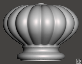 WoodCarving Finial - 3d model for CNC - 1