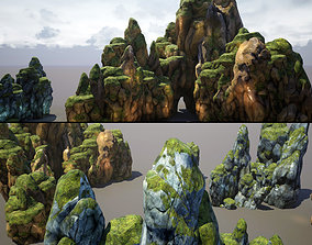 3D asset Mountains and Rocks pack - game models