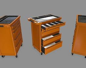 Cupboard cabinet 3D model low-poly