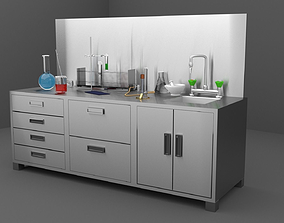 3D model CHEMISTRY AND LAB SET