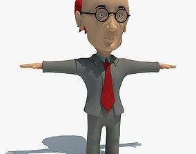 3D model Rigged Cartoon Teacher