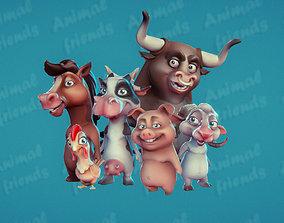 3D model Farm Animals Friends