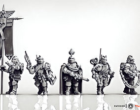 sci-fi Feudal Guard Command Squad Elite 3D print model