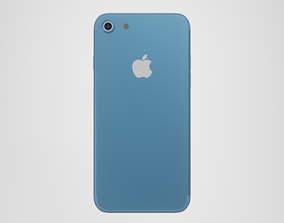 iPhone 7 - Blue 3D model