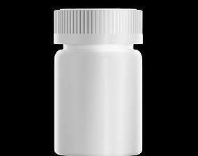 100 mg Pill Bottle 3D