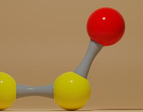 3D model Disulfur Monoxide Molecule S2O